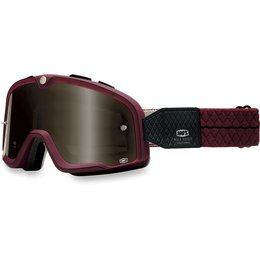 Burgundy 100% Barstow Legend Street Goggles With Bronze Lens 2014