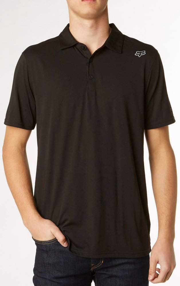 Fox racing mens rookie short sleeve polo shirt 221640 for Mens black short sleeve dress shirt