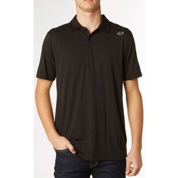 Fox Racing Mens Rookie Short Sleeve Polo Shirt Black