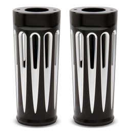 Arlen Ness Deep Cut Fork Boot Covers +2 Inch Black For Harley-Davidson FLT 2014