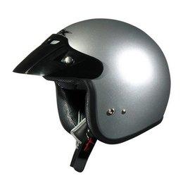 AFX FX-75 FX75 Open Face Helmet Silver