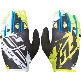 Fly Racing Youth Boys MX Offroad Kinetic Riding Gloves Black