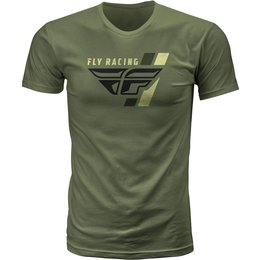 Fly Racing Mens Retro Stripe Premium Fit T-Shirt Green