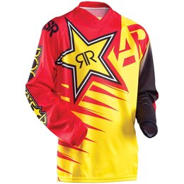 Red, Yellow Answer Mens Rockstar Jersey 2015 Red Yellow