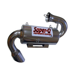 Skinz Super-Q Ceramic Exhaust Silencer For Polaris Snowmobiles Silver SQ-2201C Silver