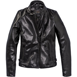 Dainese Womens Chiodo72 Soft-Armored Leather Jacket Black