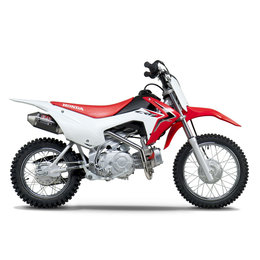 Stainless Steel Header, Stainless Steel Midpipe, Carbon Fiber Muffler, Stainless Steel End Cap Yoshimura Rs-2 Full Exhaust System Stainless Carbon Fiber For Honda Crf110f 2013