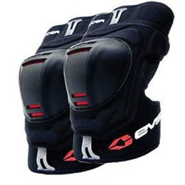 Black Evs Youth Glider Knee Guards One Size Pair