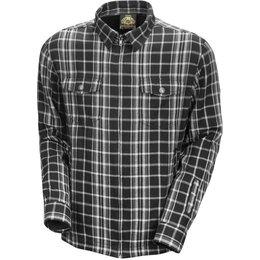 RSD Mens Maverick Cotton Plaid Button Up Shirt Black