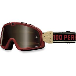 Red, Black 100% Barstow Classic Street Goggles With Bronze Lens 2014 Red Black