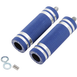 Cycle Pirates Long 360-Degree Adjustable Footpegs 80mmx25mm Pair Blue FPSTD-LBL