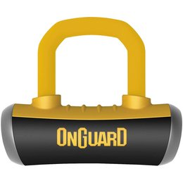 OnGuard Boxer 16.8MM Disc Lock Yellow 8048C Unpainted