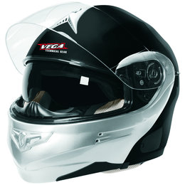 Black, Silver Vega Mens Summit 3.1 Modular Helmet 2013 Black Silver