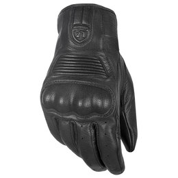 Highway 21 Mens Haymaker Leather Gloves Black