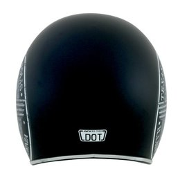 Black Afx Mens Fx-76 Fx76 Route 66 Open Face Helmet