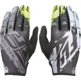 Fly Racing Mens MX Offroad Kinetic Gloves Black