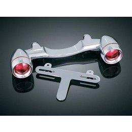 Chrome Kuryakyn Bullet Rear Turn Signal Bar For Harley Davidson Flh Flst