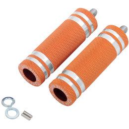 Cycle Pirates Long 360-Degree Adjustable Footpegs 80mmx25mm Pair Orange FPSTD-LO
