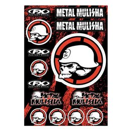 Factory Effex Sticker Kit 13 Inch X 20 Inch Metal Mulisha 2 Universal 16-68052