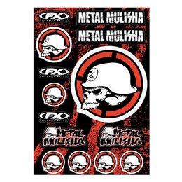 Factory Effex Sticker Kit 13 Inch X 20 Inch Metal Mulisha 2 Universal 16-68052