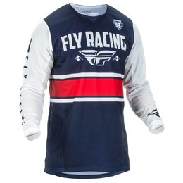 Fly Racing Mens Kinetic Mesh Era Jersey Blue