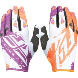 Fly Racing Youth Boys MX Offroad Kinetic Riding Gloves Orange
