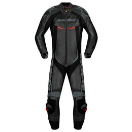 Spidi Sport Mens Reset Wind Pro 1 Piece Vented Leather Suit Black