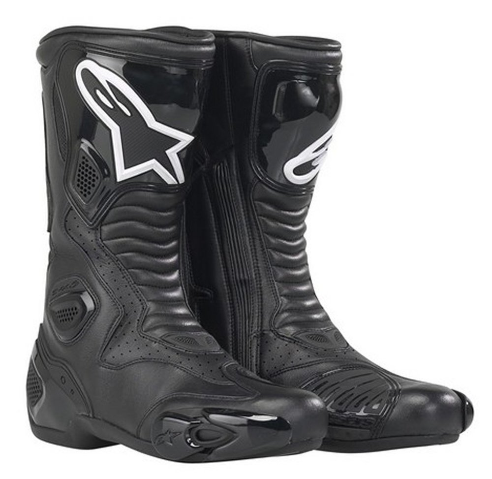 Black Alpinestars S-mx 5 Smx5 Vented Boots Us 3.5 ...