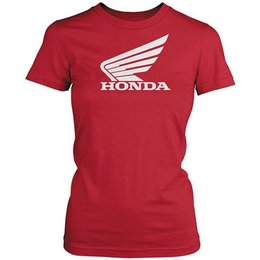 Red Honda Womens Big Wing T-shirt
