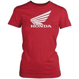 Red Honda Womens Big Wing T-shirt