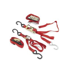 Red Ancra Quad Pak Tiedowns 4 Pack Universal