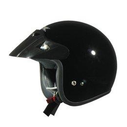 AFX FX-75 FX75 Open Face Helmet Black
