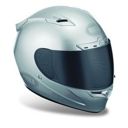 Metallic Silver Bell Powersports Vortex Full Face Helmet