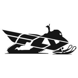 Black Fly Racing Snow Logo Trailer Sticker Decal 45 Inch Each