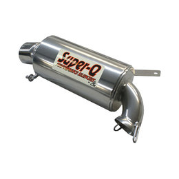 Skinz Super-Q Ceramic Exhaust Silencer For Polaris Snowmobiles Silver SQ-2213C Silver