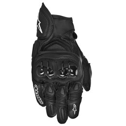 Black Alpinestars Mens Gpx Leather Gloves 2014