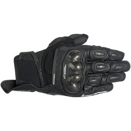 Alpinestars Mens SP-X SPX Air Carbon AC Touchscreen Textile Gloves Black