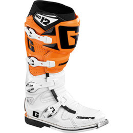 White, Orange Gaerne Sg12 Boots White Orange Us 7