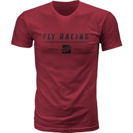 Fly Racing Mens Pursuit Premium Fit T-Shirt Red