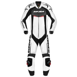 Spidi Sport Mens Reset Wind Pro 1 Piece Vented Leather Suit White
