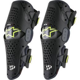 Alpinestars SX-1 SX1 Knee Guards Protectors Pair Black