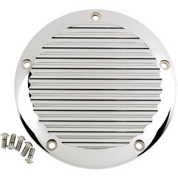 Joker Machine Finned 5-Hole Derby Cover For Harley Touring Chrome 06-960-1C Unpainted