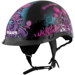 Black Speed & Strength Womens Ss300 Wicked Garden Half Helmet 2014
