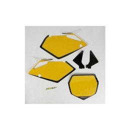 N-Style Preprinted Number Plate Yellow For Suzuki RMZ-450 07