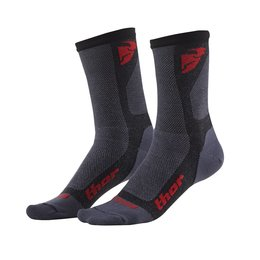 Black, Red Thor Mens Dual Sport Coolmax Riding Socks 2015 Us 6-9 Black Red