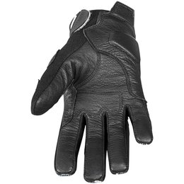 Black, White Speed & Strength Womens Throttle Body Leather Mesh Gloves 2013 Black White Med