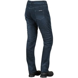 Speed & Strength Womens True Romance Armored Stretch Denim Jean Riding Pants Blue