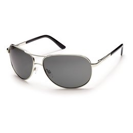 Silver/grey Suncloud Mens Aviator Sunglasses With Polarized Lens 2014 Silver Grey