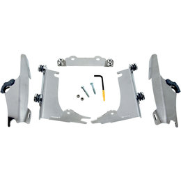 Memphis Shades Fats/Slim Mount Kit For Kawasaki Polished Aluminum MEK1925 Unpainted