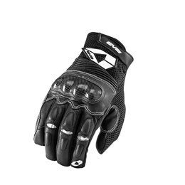 Black, White Evs Mens Assen Leather Mesh Gloves 2013 Black White